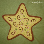 Gingerbread Star Applique :: Christmas Cookie Collection