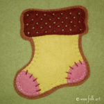 Gingerbread Stocking Applique :: Christmas Cookie Collection