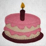 Birthday Cake Applique :: Sweet Treats Collection