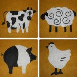Barnyard Animals Applique Collection