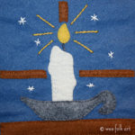 Candle Applique for a Cold Winter's Night