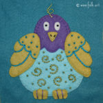 Folk Art Bird Applique :: Folk Art Pets Collection