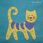 Folk Art Cat Applique :: Folk Art Pets Collection