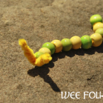 Wooden Bead Caterpillar Project