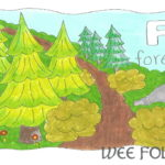 Nature Alphabet Coloring Page Letter F