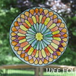 Paper Rose Stained Glass Windows Project