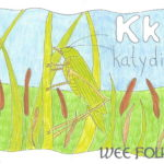 Nature Alphabet Coloring Page Letter K