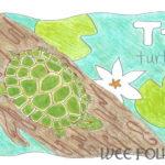 Nature Alphabet Coloring Page Letter T