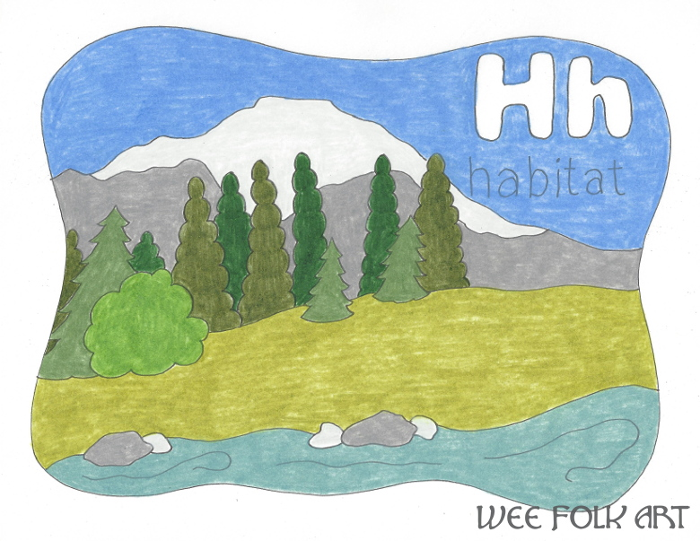 alphabet coloring page letter H