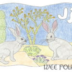 Nature Alphabet Coloring Page Letter J