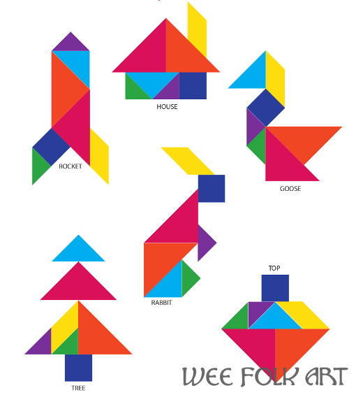 Tangram Puzzle Solutions Pictures To Pin On Pinterest