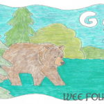 Nature Alphabet Coloring Page Letter G