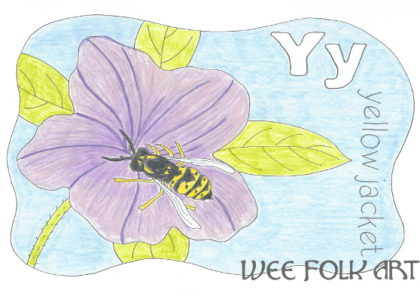 yellow jacket coloring page Archives - Homeschool Companion
