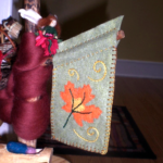 Autumn Leaf Banner and Brooch