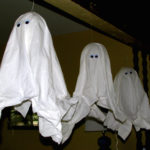 Hanging Fabric Ghosts Halloween Decorations