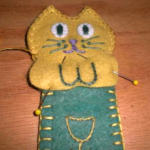 Kitty Cat Book Mark Directions