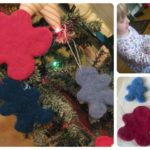 Wet Felted Wool Cookie Cutter Ornaments