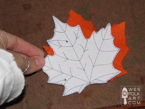 felt leaf pattern