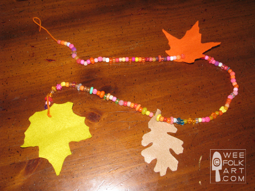 felt leaves fall kid craft garland