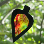 Wax Paper Stained Glass Leaves