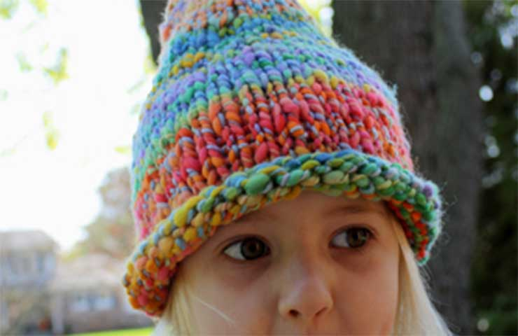 46b7df0c45d Pointed Pixie or Gnome Hat Knitting Pattern - Wee Folk Art