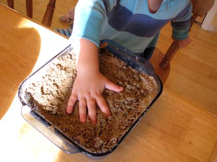 handprint in sand