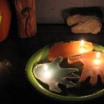 Handprint Sand Candles
