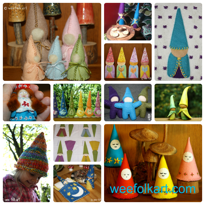 gnomes Collage