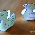 3-D Cut-Out Ducklings