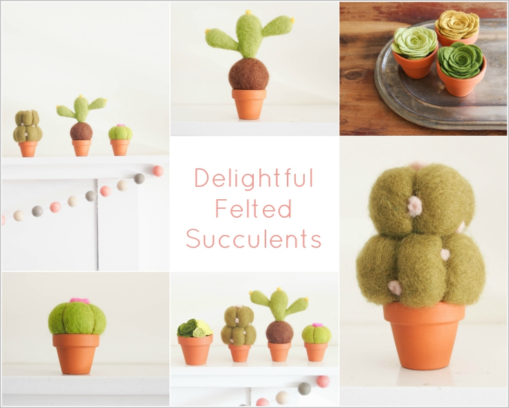 Felted Succulents from The Magic Onions Shop