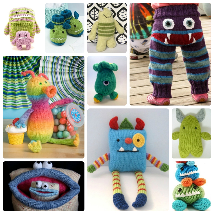 knit monster Collage