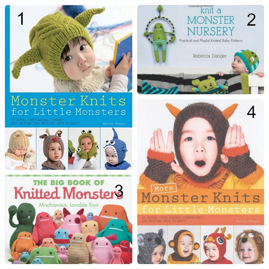 knit monster book Collage
