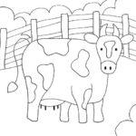 Barnyard Cow Coloring Page
