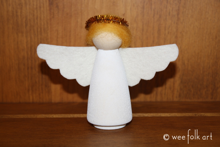Wooden Advent Angel