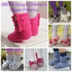 DROPS Design Free Children's Slipper Patterns