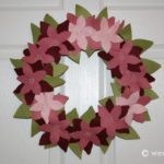 Felt Poinsettia Wreath