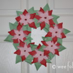 Paper Poinsettia Wreath Directions Kids Craft