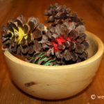Yarn Wrapped Pinecones
