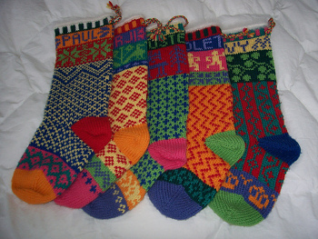 Knitting Pattern For Large Xmas Stocking : Knit and Crochet Christmas Stocking Patterns - Wee Folk Art