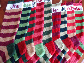Knit and Crochet Christmas Stocking Patterns - Wee Folk Art