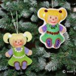 Santa's Workshop Rag Doll Ornament