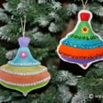 Santa's Workshop Spinning Top Ornament Patterns