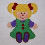 Santa's Workshop Rag Doll Applique