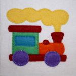 Santa's Workshop Train Applique
