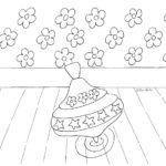 Spinning Top Coloring Page