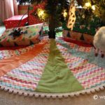 Easy Pom-Pom Quilted Tree Skirt