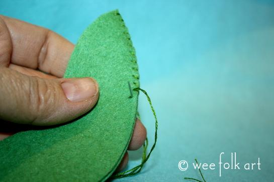 felt pickle ornament - sew sides545wm