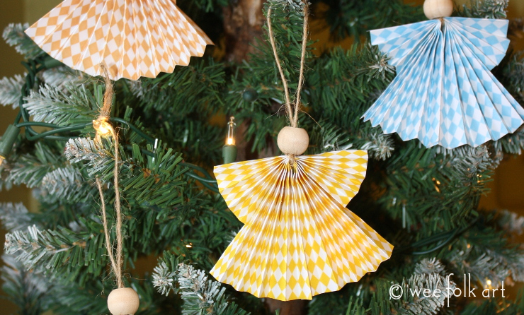 Paper Fan Angel Craft Wee Folk Art