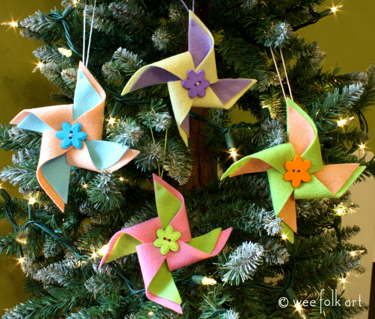 pinwheel ornaments pattern