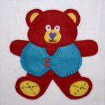 Santa's Workshop Teddy Bear Applique